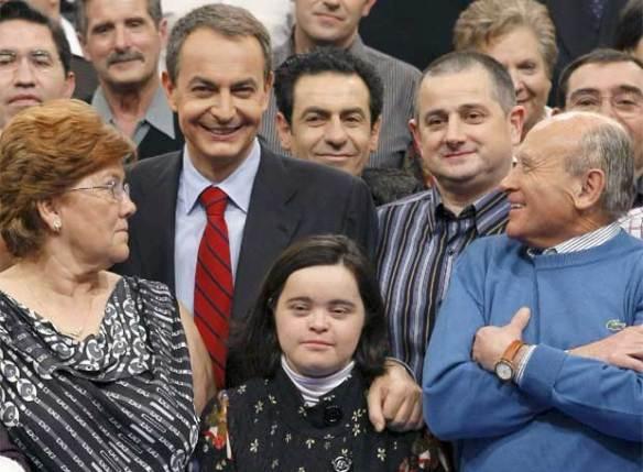 Zapatero, con los participantes de 'Tengo una pregunta para usted'