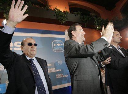 Rajoy, con imputados Camps y Fabra