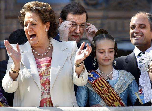 Barberá, Camps y Rajoy tras la imputación de Camps