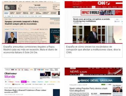 Prensa internacional papeles Bárcenas