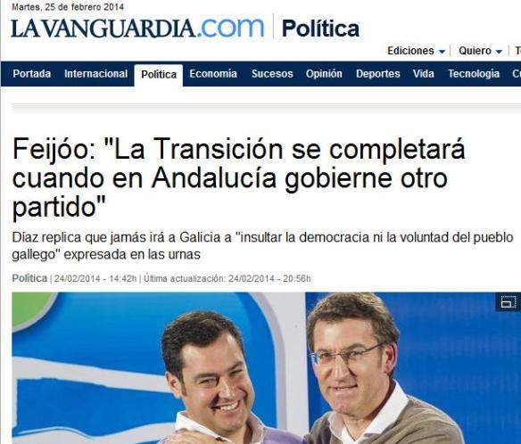 Feijóo en La Vanguardia