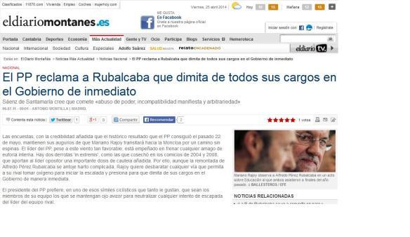 Soraya Sáenz de Santamaría en Diario Montañés