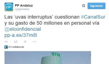 Cuenta de Twitter del PP andaluz