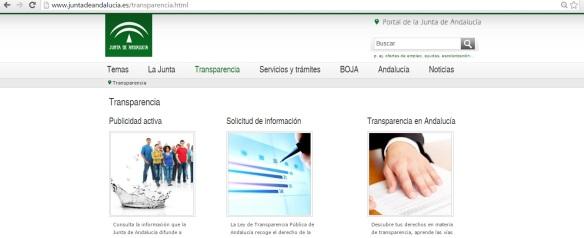 Portal de Transparencia Junta de Andalucía