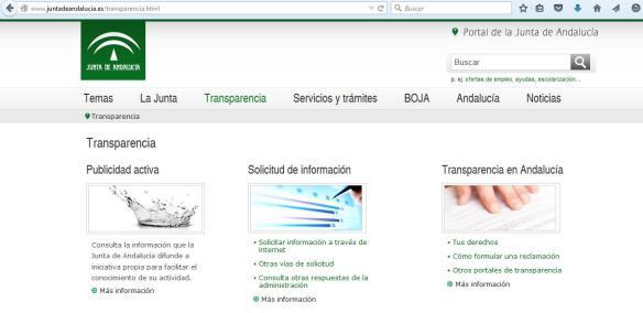 Portal de Transparencia de la Junta de Andalucía