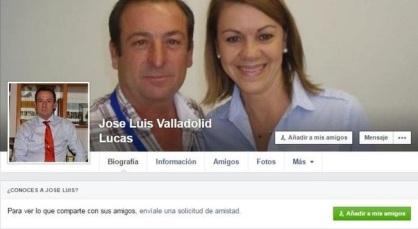 José Lusi Valladolid, con Cospedal en su perfil de Facebook
