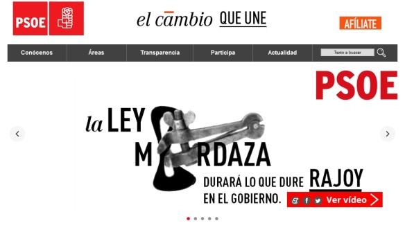 PSOE no a la ley mordaza