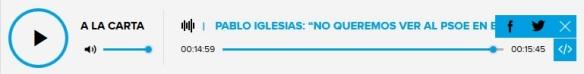 Entrevista Pablo Iglesias en la Cadena Ser